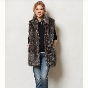 🆕NWOT. {Anthropologie} Vegan Fur Vest by Line.